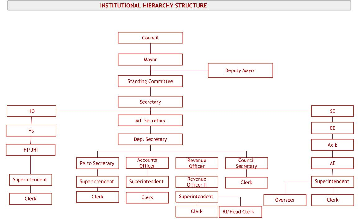 INSTITUTIONAL HIERARCHY